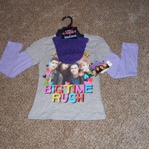 2 For 1 Tshirt&Beanie Girls Sz 10/12 NWT
